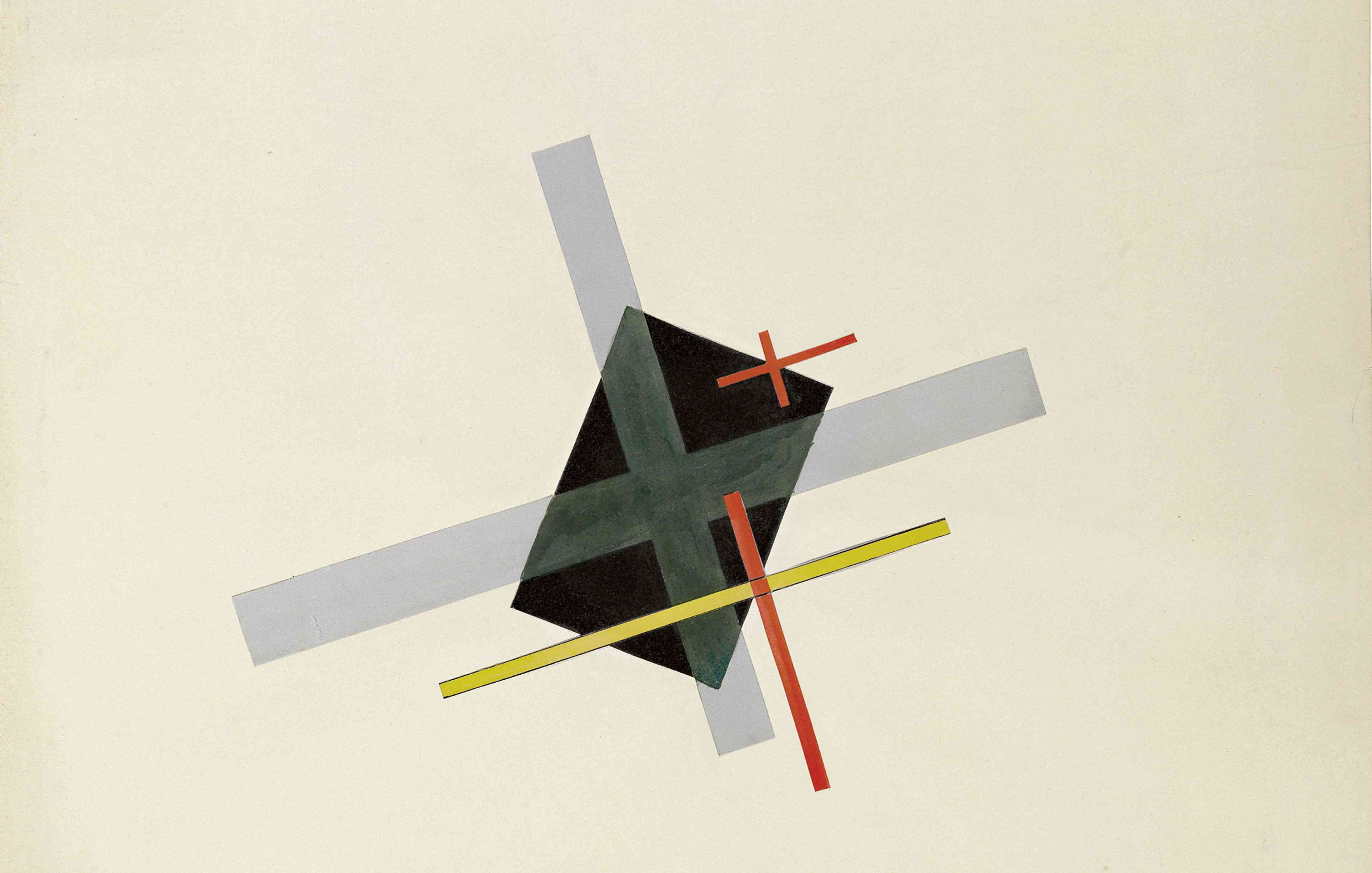 laszlo moholy-nagy collage with black centre