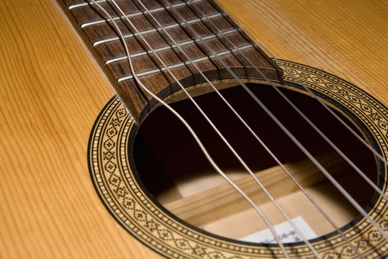 Acoustic guitar with one loose string