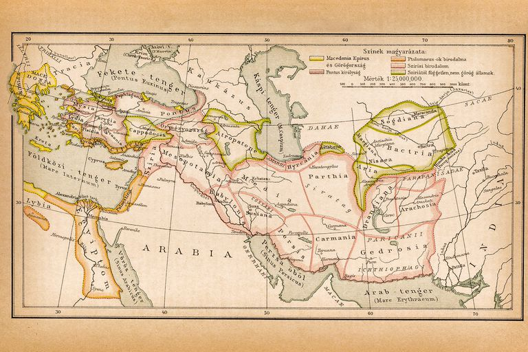 Map of Ancient Iran and surrounding areas, ca 323 BC