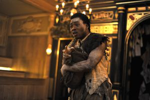 Actor on stage at the Tempest directed by Dominic Dromgoole.