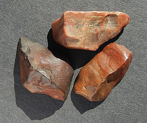 Sandblasted pebbles