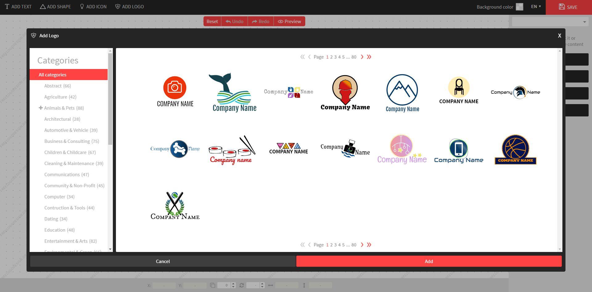 Sample logos at Free Logo Design