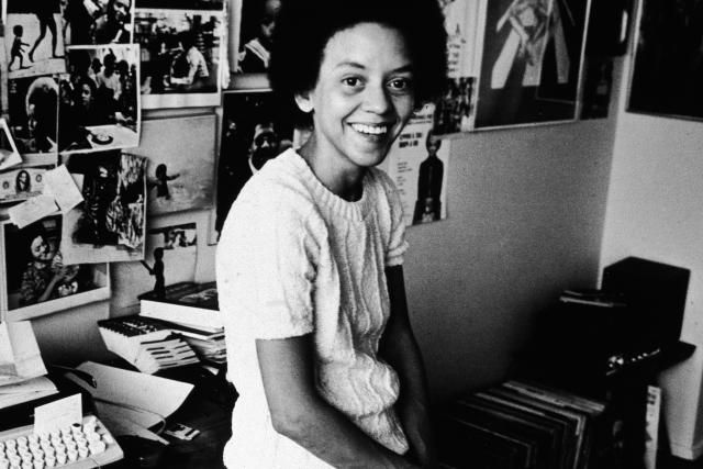 Nikki Giovanni at Her Desk, 1973