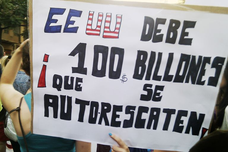 Estados Unidos protest sign