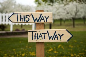 This Way and That Way Signs