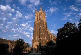 Duke University Chapel at sunrise