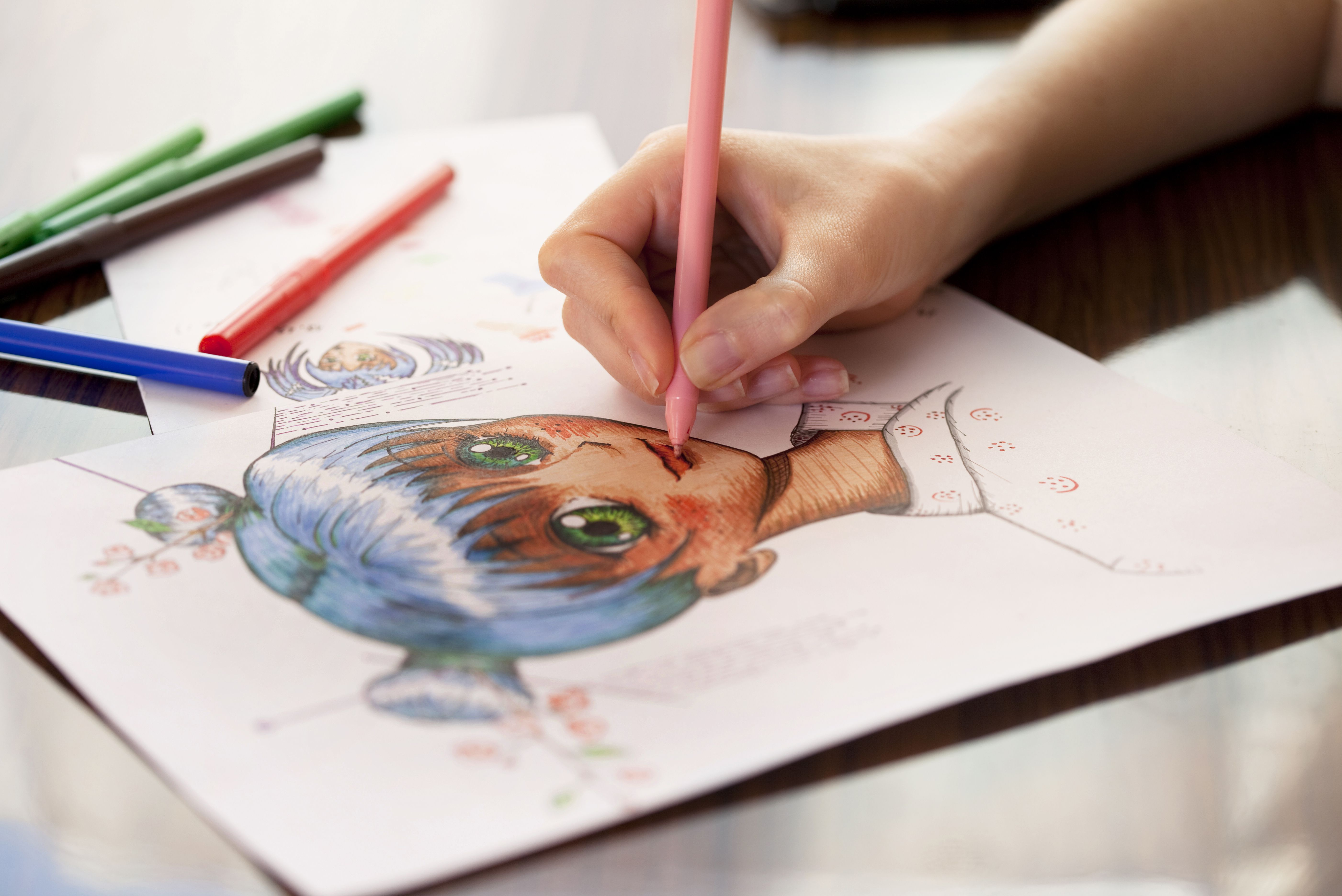 Draw a manga face with these easy steps