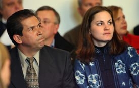 Hector Brisman and Paula Eckberg look on during Markoff arraignment