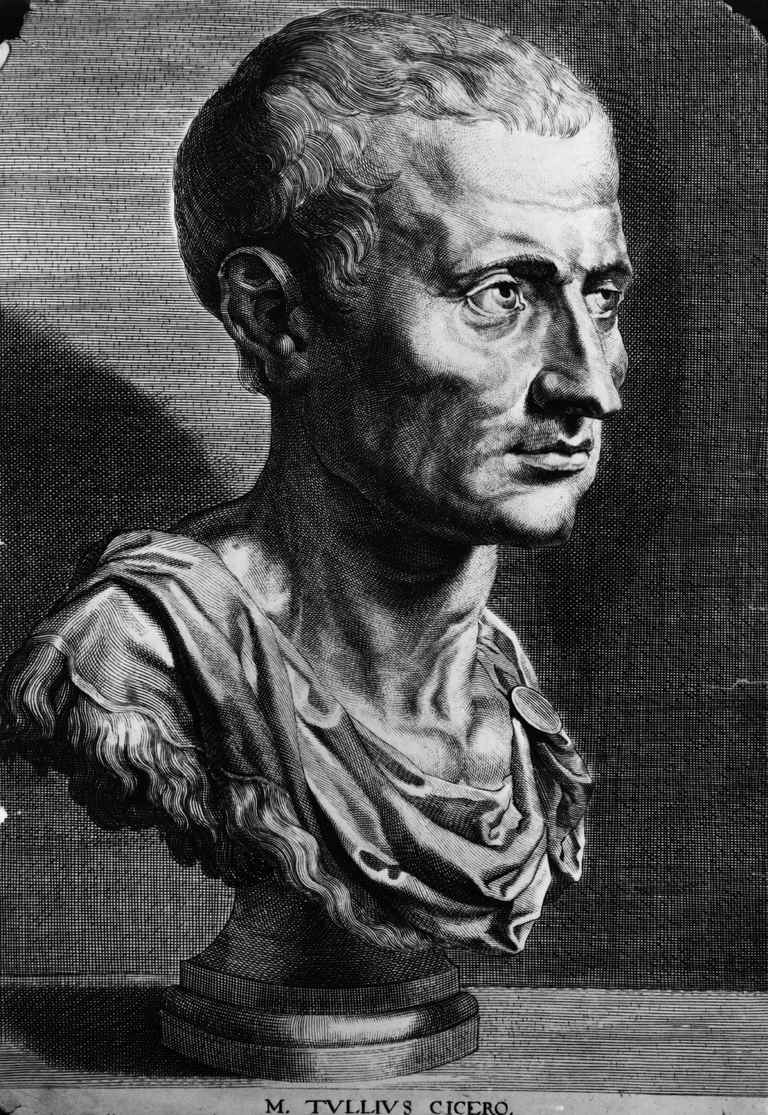 Illustration of bust of Cicero