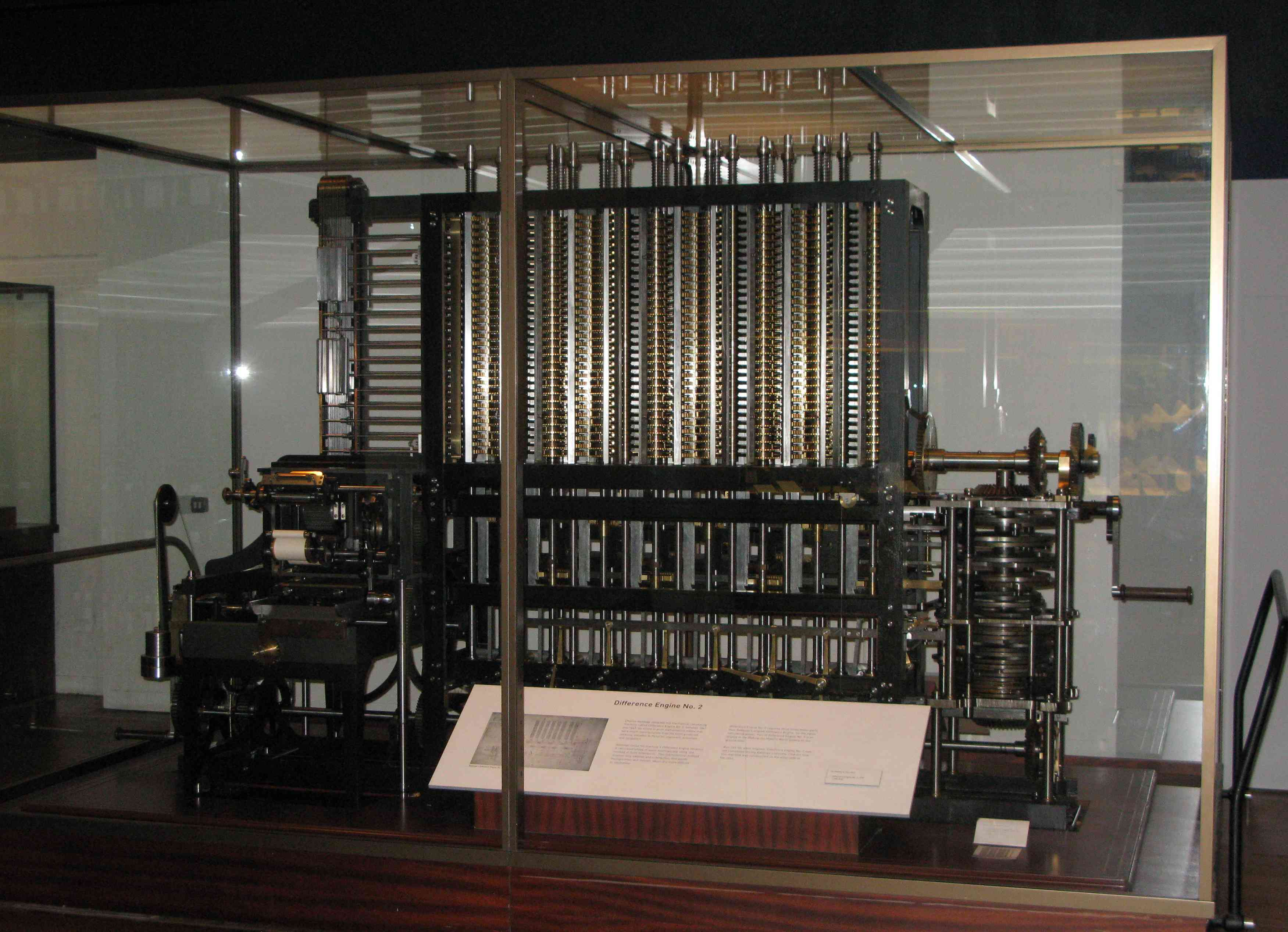 The Science Museum's Difference Engine No. 2, built from Charles Babbage's design