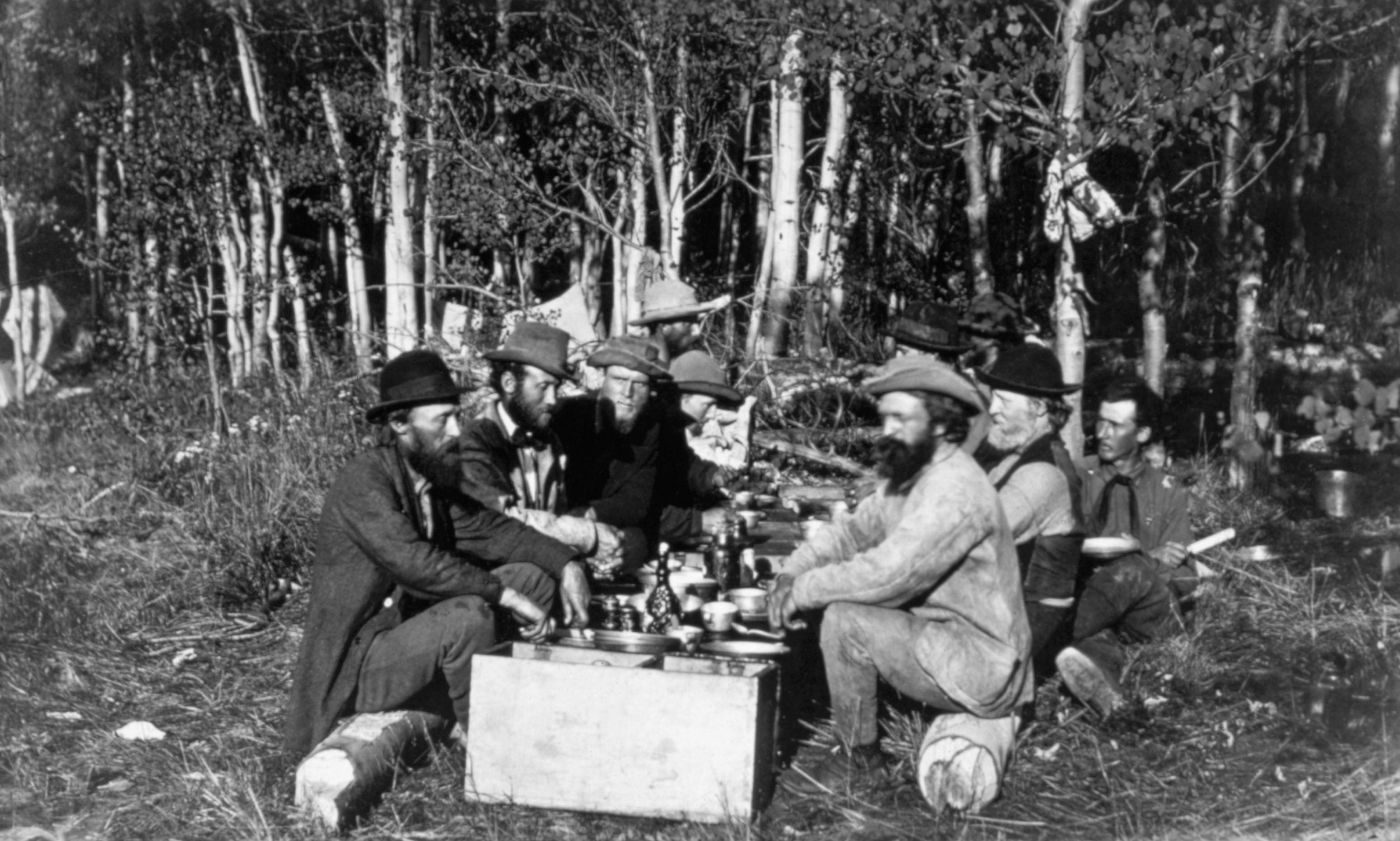 Hayden Survey Members in Camp Study