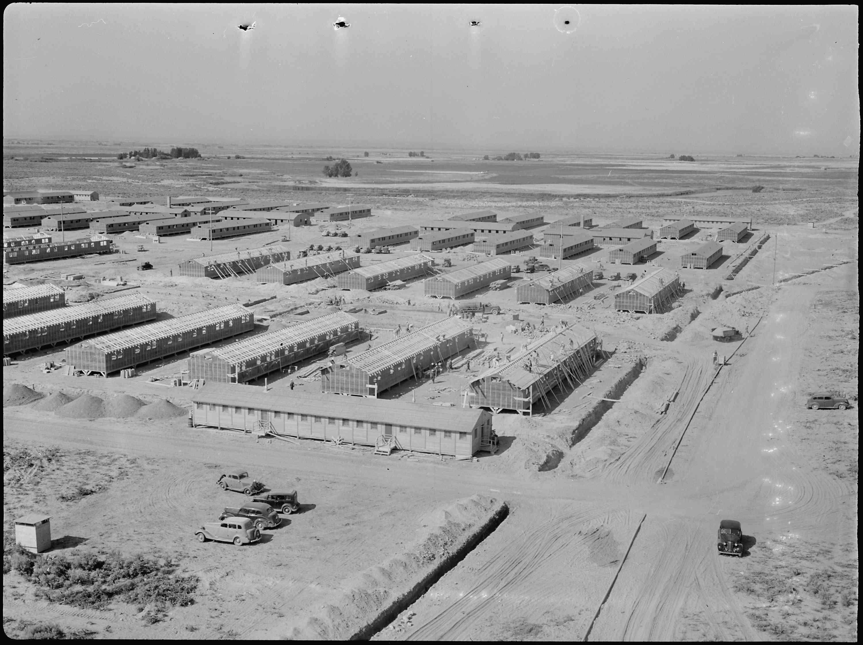 panorama view of the Minidoka War Relocation Authority center