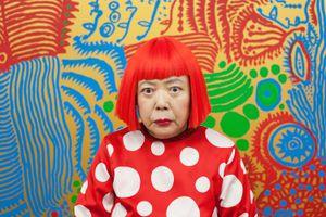 Portrait of Japanese artist Yayoi Kusama