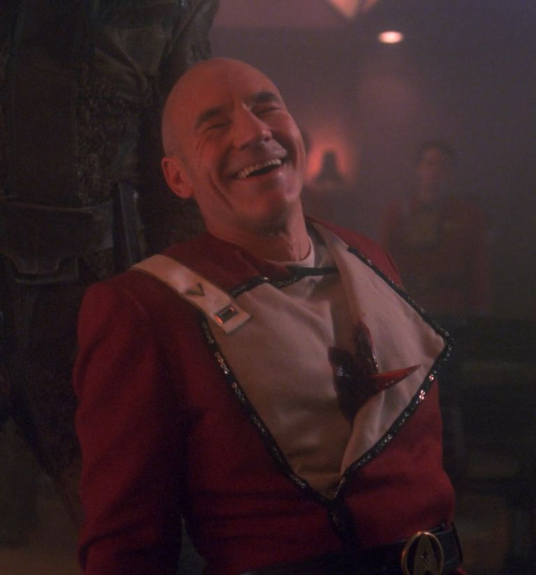 Picard is impaled through the heart