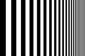 Pattern of black and white lines