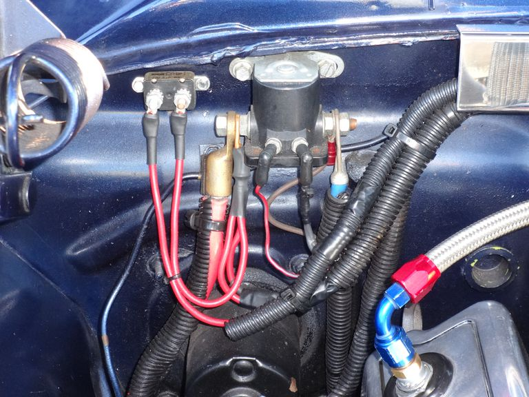 Starter Relay And Solenoid A F B B D Be D on 1965 Chevy Wiring Diagram