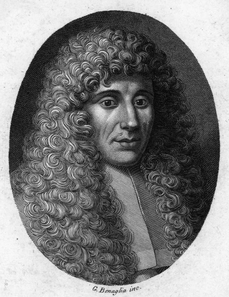 Engraving portrait of Francesco Redi