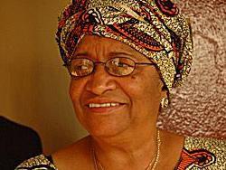 Πρόεδρος Ellen Johnson-Sirleaf της Λιβερίας, & αντίγραφο;  Claire Soares / IRIN