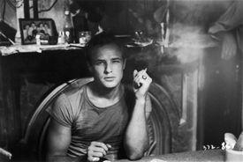 Marlon Brando in a scene from 'A Streetcar Named Desire'