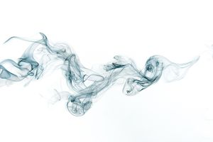 Smoke against a white background.