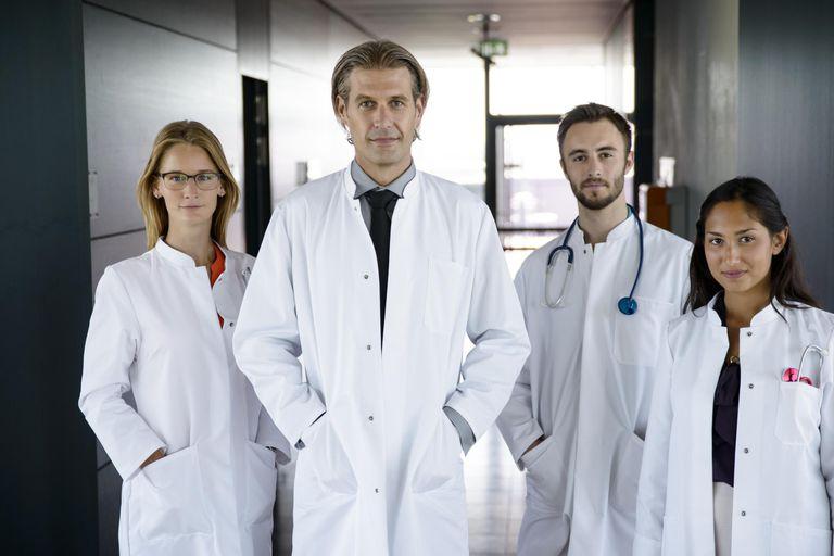 Team of doctors in hospital