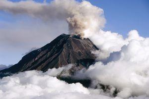 A smoking volcano, a fascinating geological phenomenon