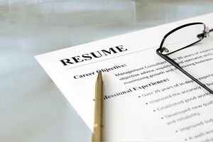 functional resume with a pen and glasses on top