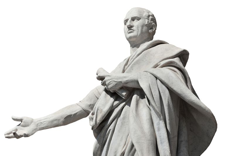 Cicero: 19th C. Statue, Palace of Justice in Rome, Italy