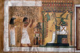 Osiris Judges the Deceased, New Kingdom Papyrus