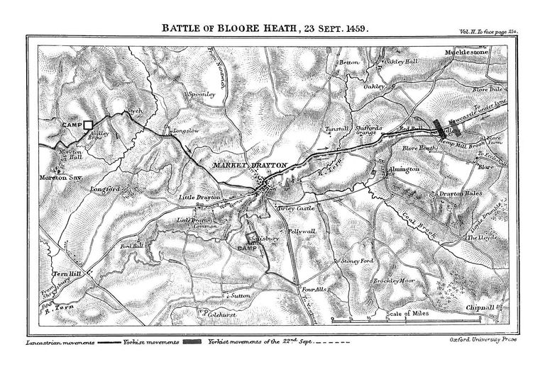 Blore Heath Map