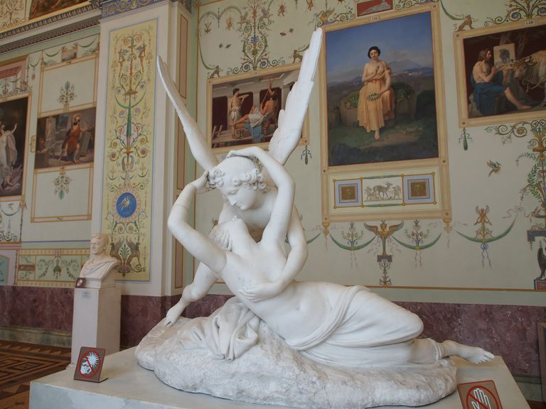 A statue of Cupid and Psyche in the State Hermitage Museum, Russia.