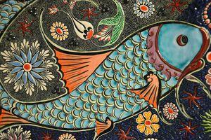 Colorful fish mosaic.