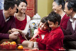 Big family celebrating Chinese New Year.