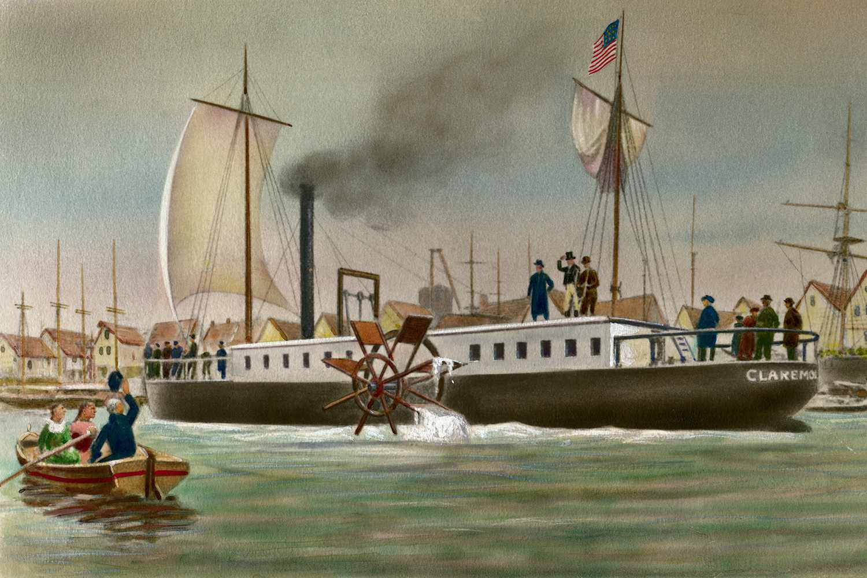 Clermont steamship