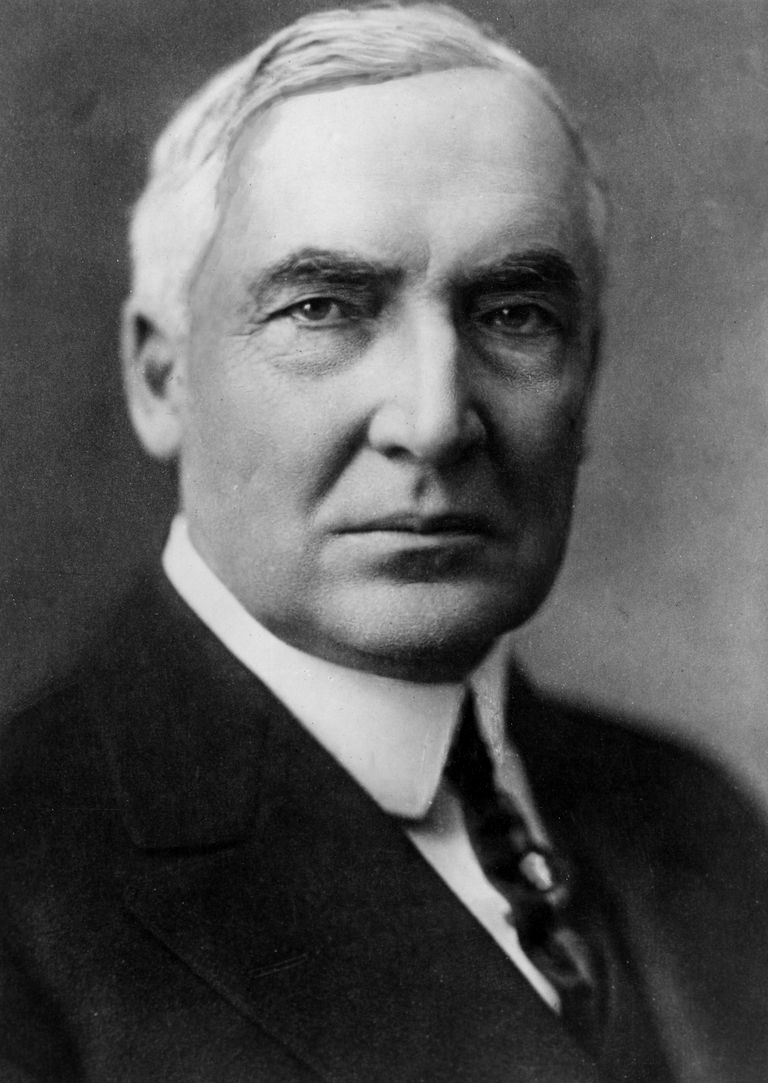 Picture of U.S. President Warren G. Harding.