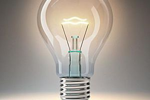 lightbulb with hot filament
