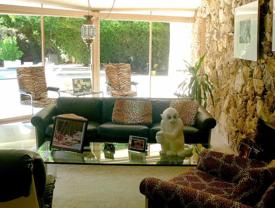 Sunroom at the Elvis Honeymoon Hideaway in Palm Springs, California