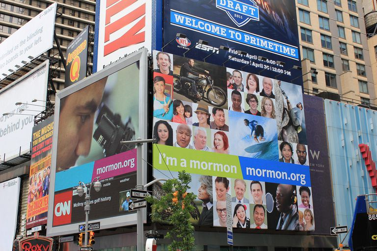 I'm a Mormon billboard in Times Square New York City