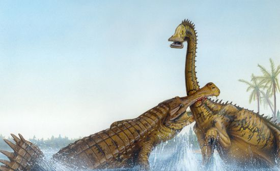Sarcosuchus illustration