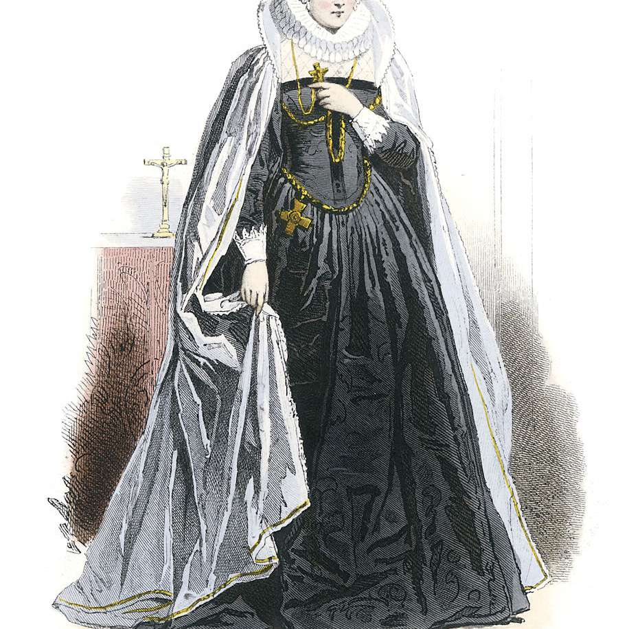 A costume of Mary, Queen of Scots