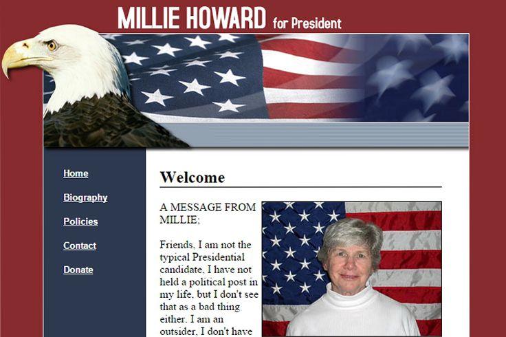 Millie Howard for President Web Site