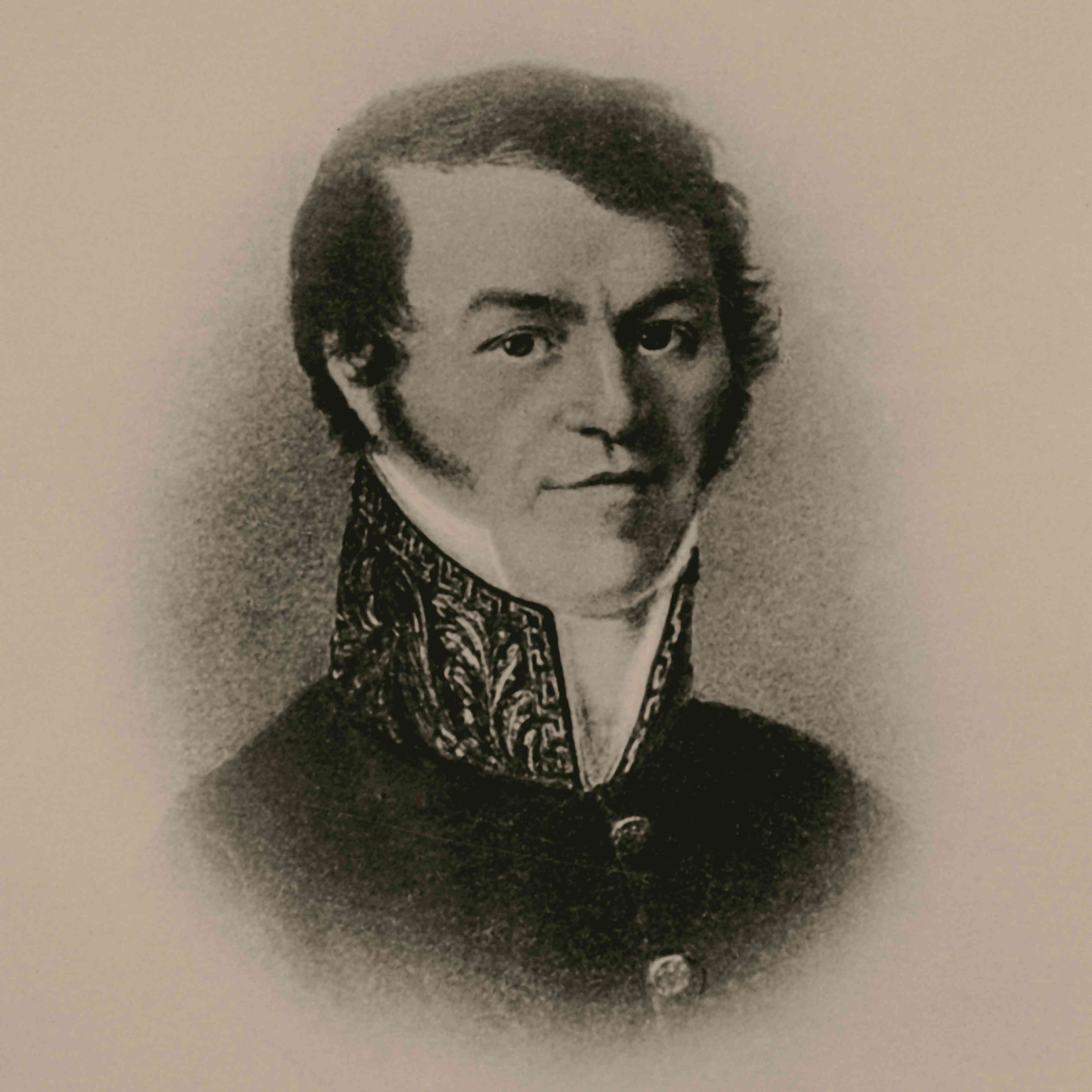 Head and shoulders portrait of Mikhail Dostoevsky