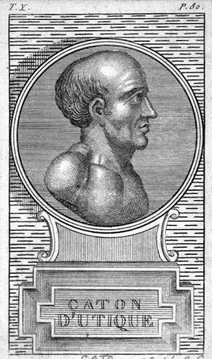 Roman statesman Marcus Porcius Cato (95 - 46 BC), circa 46 BC.