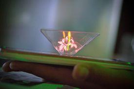 Smartphones can display 3D holograms.