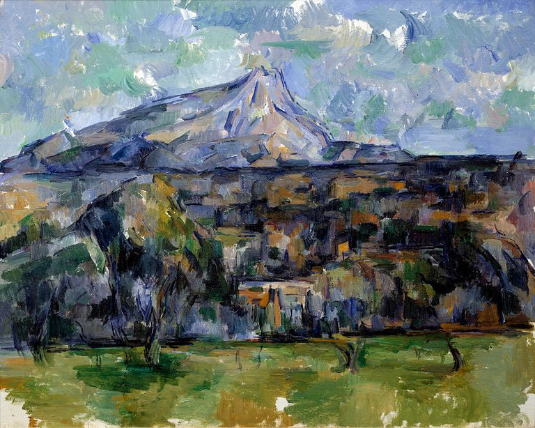 The Mont Sainte-Victoire by Paul Cezanne