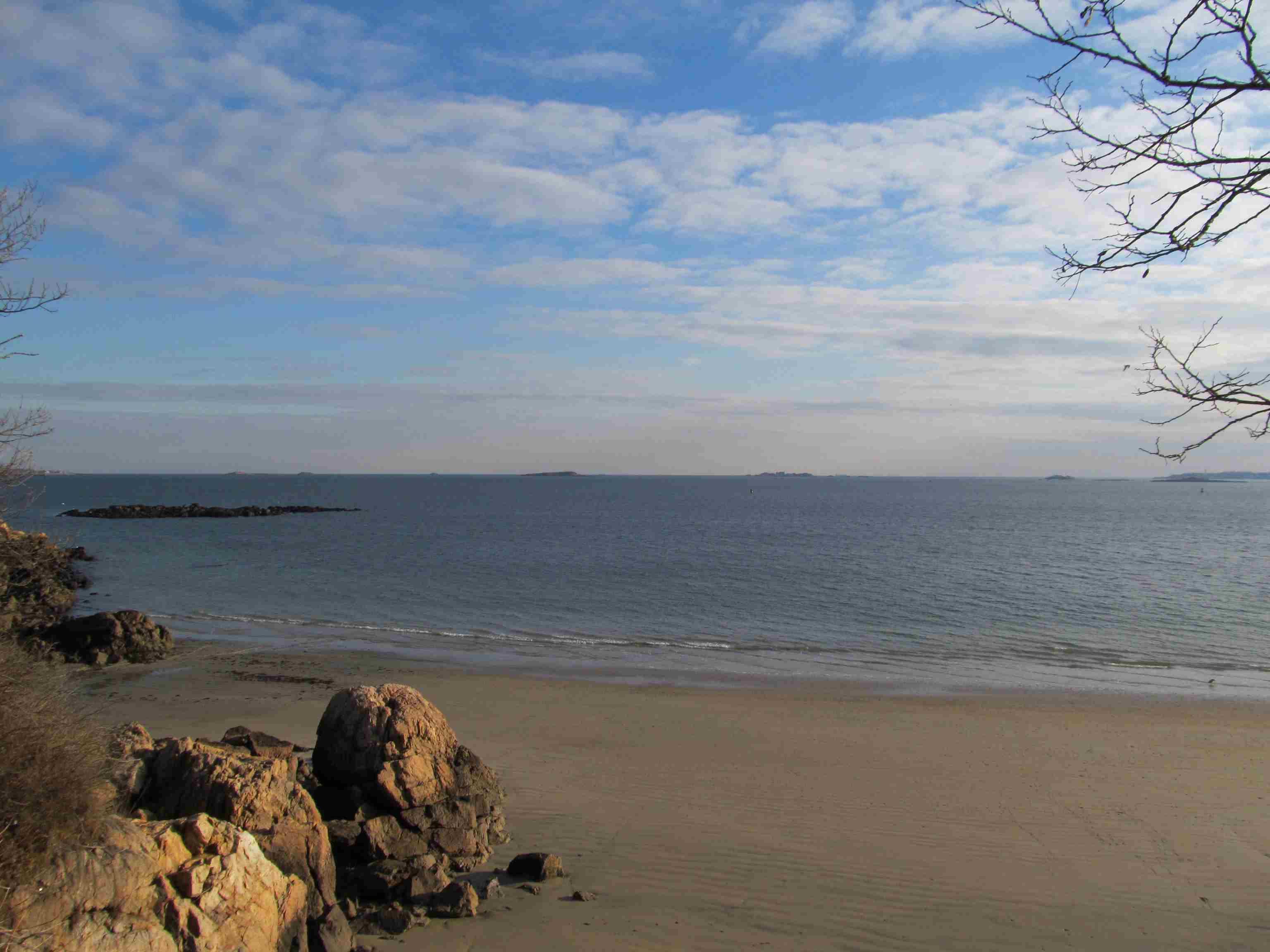 View of Massachusetts Bay from Mingo Beach, Endicott College, Beverly Massachusetts