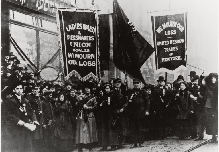 Demonstration of Protest and Mourning for Triangle Shirtwaist Factory Fire