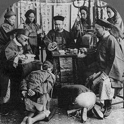 Trial in a Qing Imperial court for alleged Boxer rebels, 1901