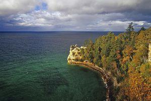 Miners Castle, Pictured Rocks National Lakeshore, Munising, Michigan, USA