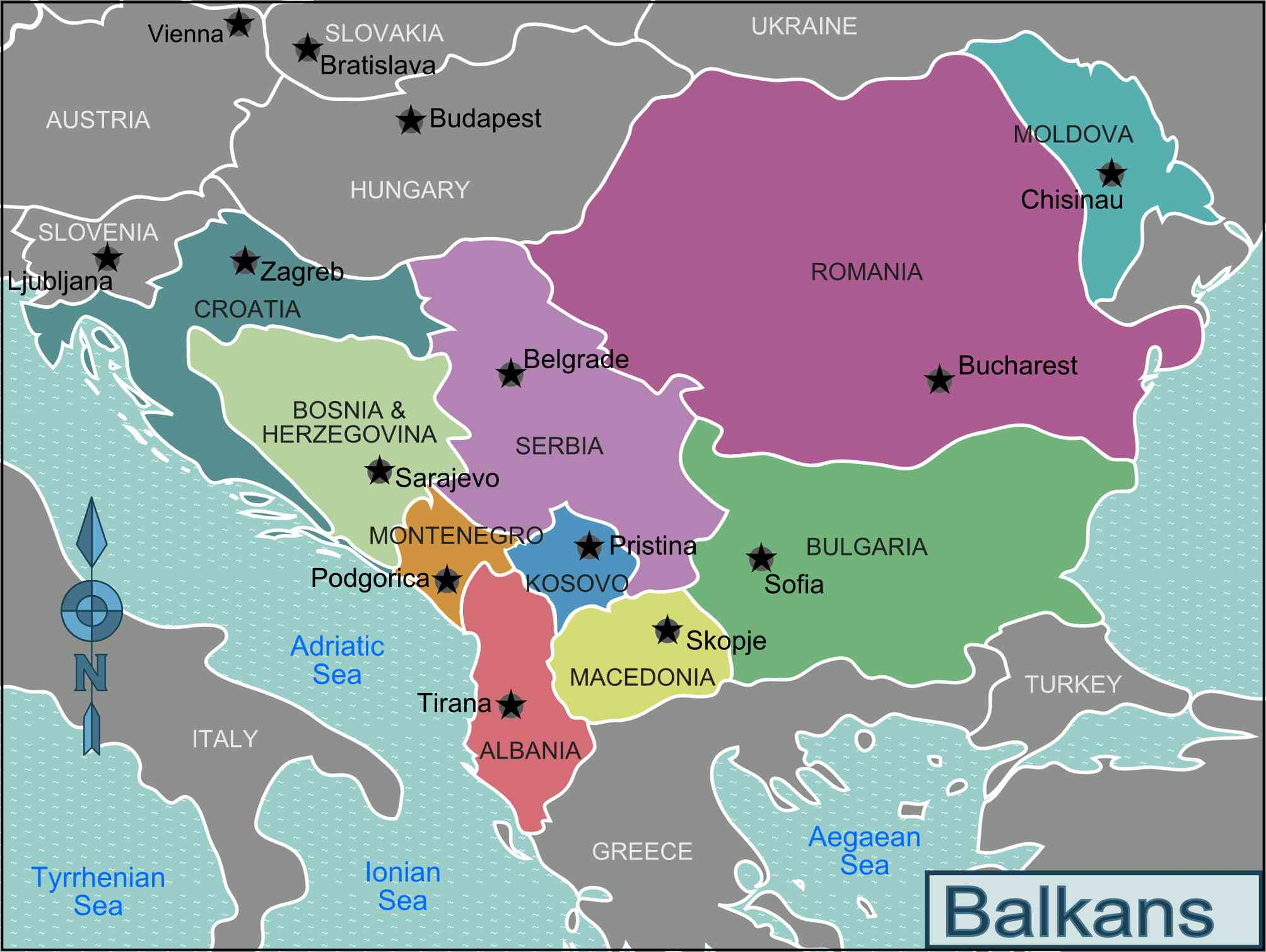 Which Countries Are Part of the Balkan States?